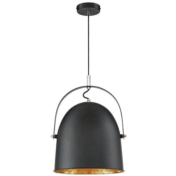 Cypress 1 Light Pendant in Black with Gold Leaf by Savoy House 7-15000-1-126