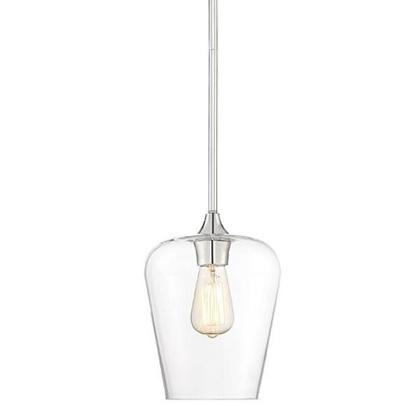Octave 1 Light Pendant in Polished Nickel with Clear Glass Shades by Savoy House 7-4036-1-11