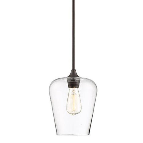 Octave 1 Light Pendant in English Bronze with Clear Glass Shades by Savoy House 7-4036-1-1