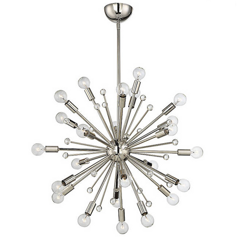 24 Light Galea Chandelier in Polished Nickel by Savoy House 7-6099-24-109