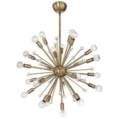 24 Light Galea Chandelier in Warm Brass by Savoy House 7-6099-24-322