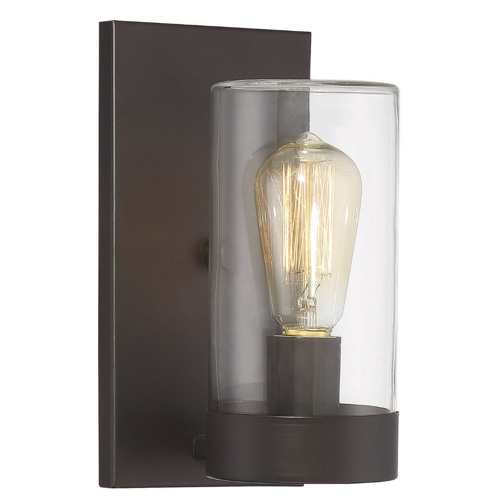 Inman 1 Light Outdoor Wall Sconce in English Bronze by Savoy House SH-9-1132-1-1