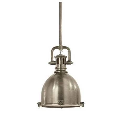 Visual Comfort Yoke Small Pendant in Antique Nickel SL5175AN-AN2