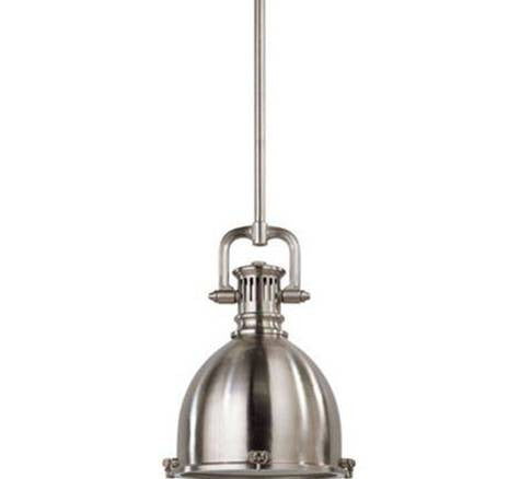 Visual Comfort Yoke Small Pendant in Brushed Chrome SL5175BC-BC2
