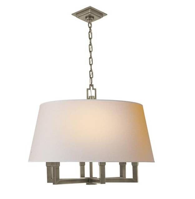 Square Tube Hanging Shade with Antique Nickel Finish by Visual Comfort SL5820AN-NP