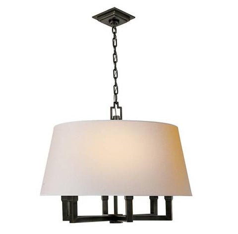 Square Tube Hanging Shade with Bronze Finish by Visual Comfort SL5820BZ-NP