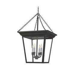 Visual Comfort Cornice Hanging Lantern with Blackened Rust Finish SL5871BR