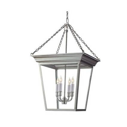 Visual Comfort Cornice Hanging Lantern with Polished Nickel Finish SL5871PN