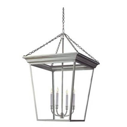 Cornice Hanging Lantern in Polished Nickel by Visual Comfort SL5872PN