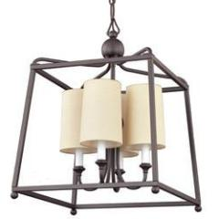 Sylvan 4 Light Chandelier in Dark Bronze by Crystorama 2245-DB