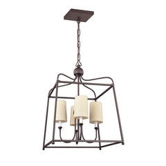 Sylvan 4 Light Chandelier in Dark Bronze by Crystorama 2244-DB