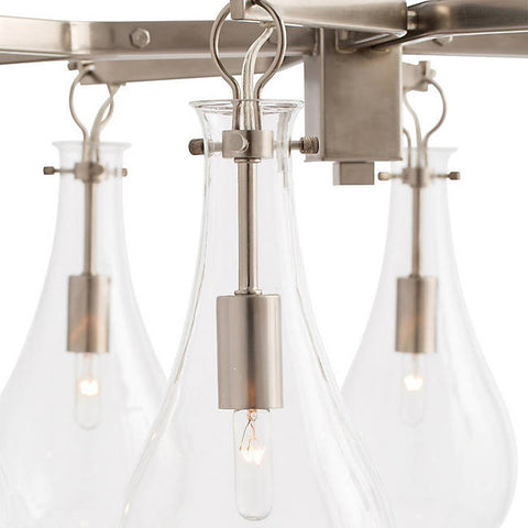 Sabine Chandelier in Polished Nickel by Arteriors Home 49012