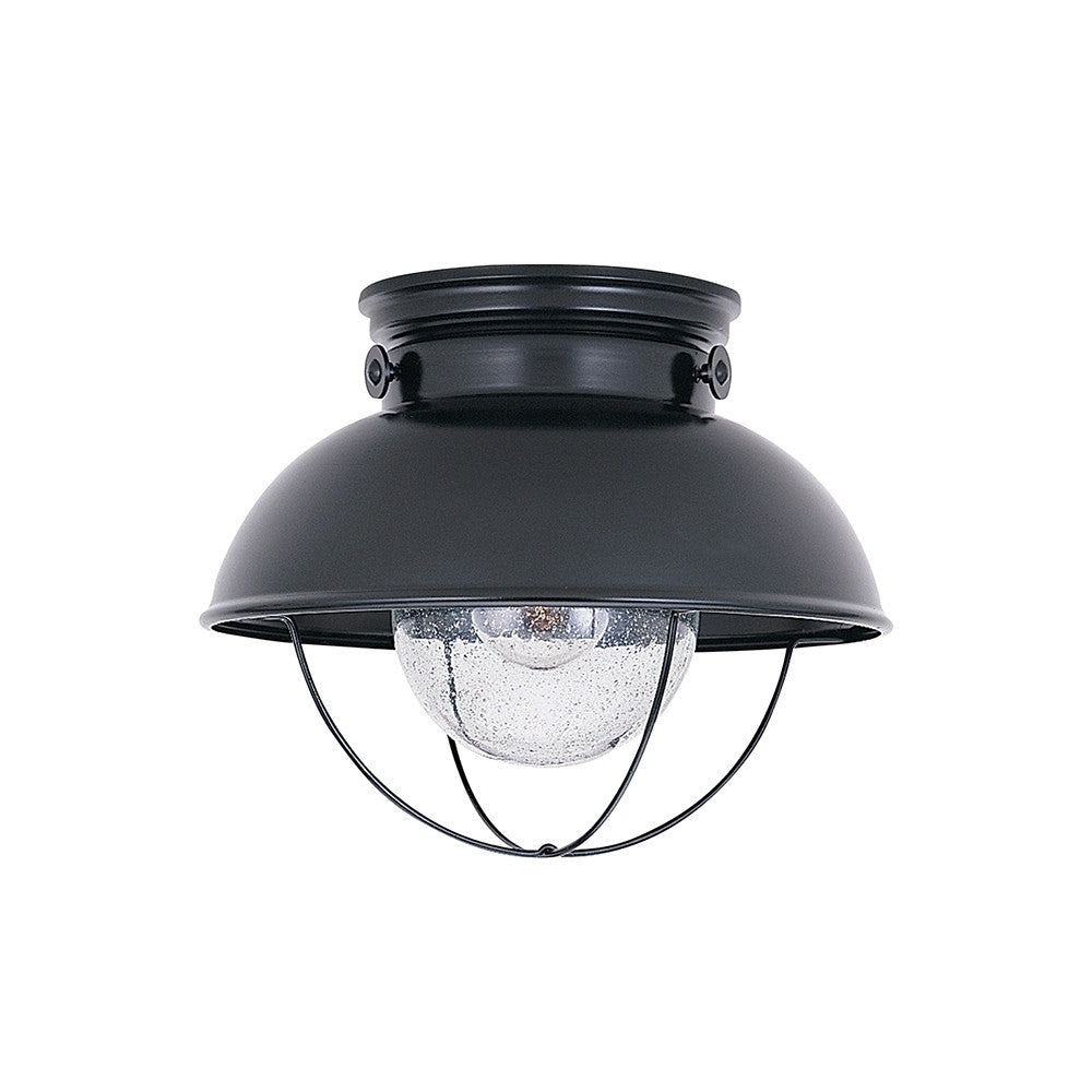 Sebring Nautical Outdoor Ceiling Mount by Sea Gull Lighting in Black SG-8869-12