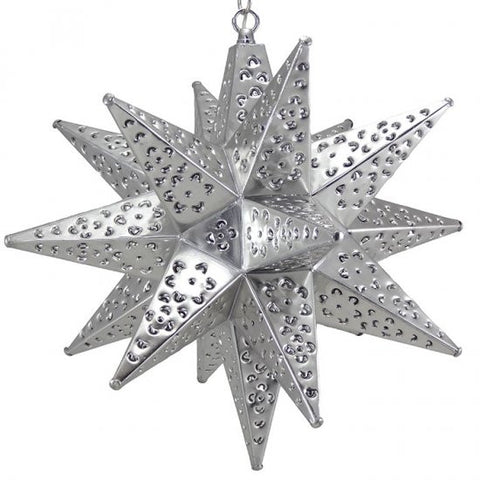 Moravian Silver Tin Star Light