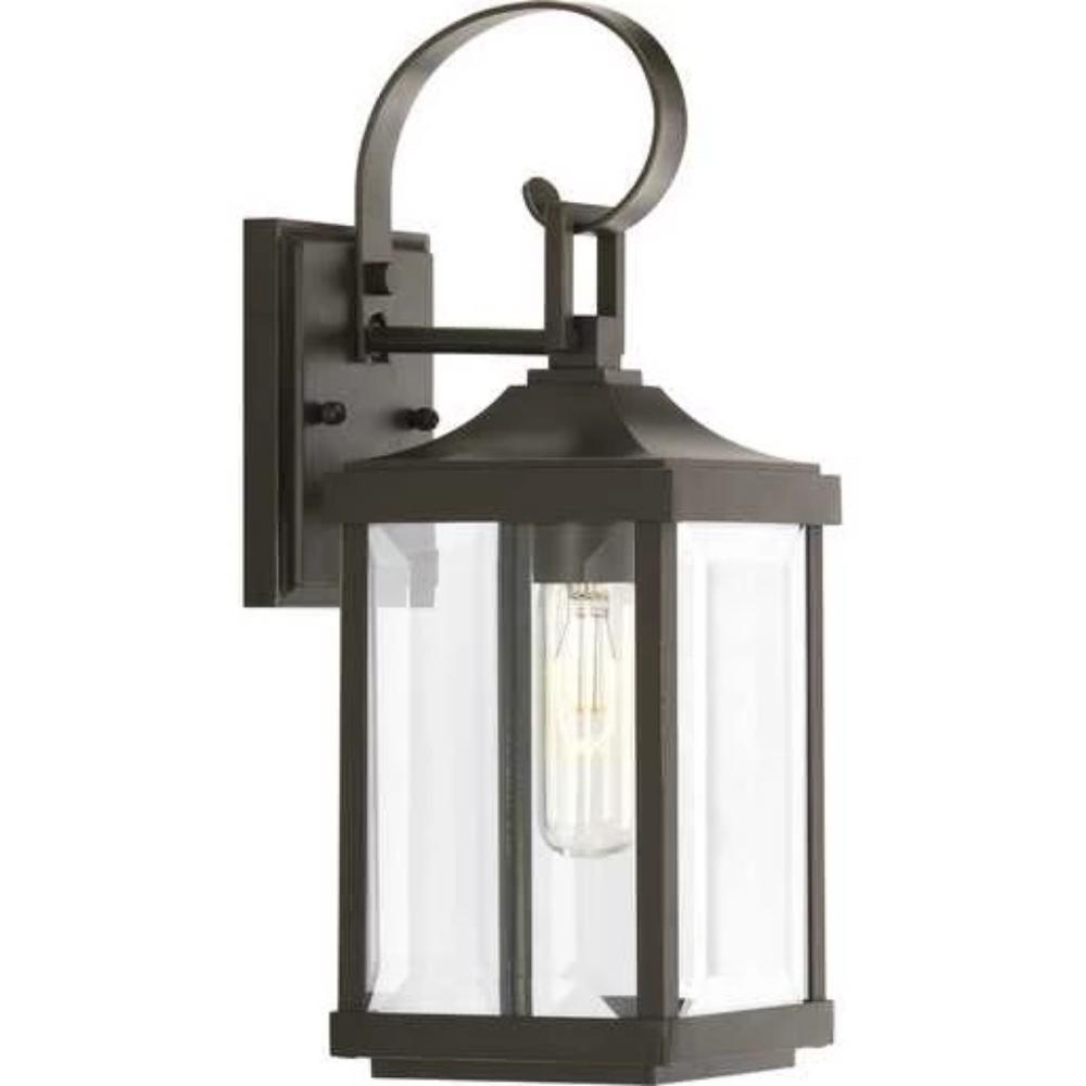Gibbes Outdoor Wall Lantern, 1-Light Lantern, Antique Bronze