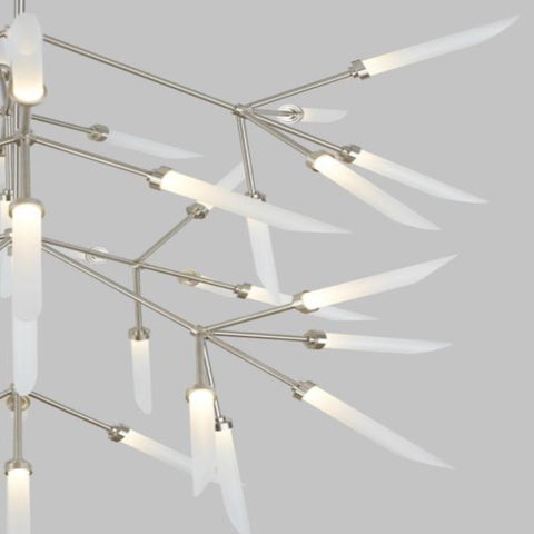 Aria Chandelier, Chandelier, Satin Nickel