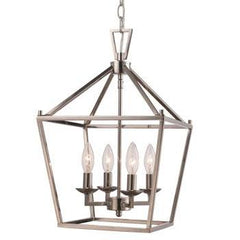 Lacey 4 Light Lantern Pendant in Polished Chrome by Trans Globe Lighting 10264 PC