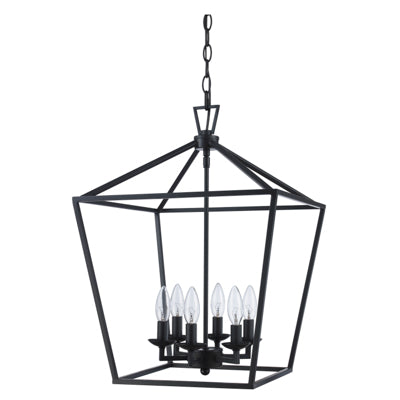 Lacey 6 Light Lantern Pendant in Oil Rubbed Bronze by Trans Globe Lighting 10266 ROB
