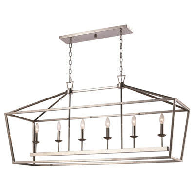Lacey 6 Light Linear Pendant in Polished Chrome by Trans Globe Lighting 10267 PC