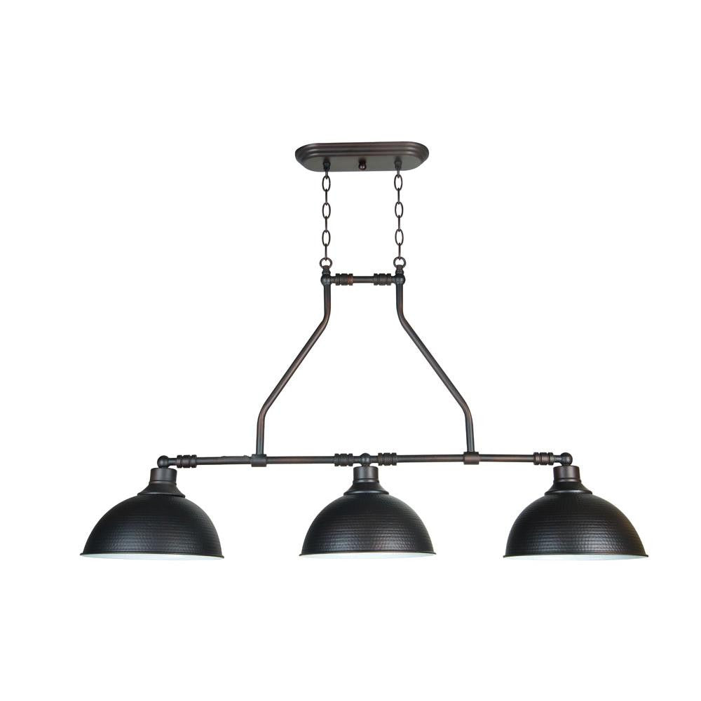 Timarron Industrial Linear Chandelier in Antique Bronze by Jeremiah Lighting 35973-ABZ