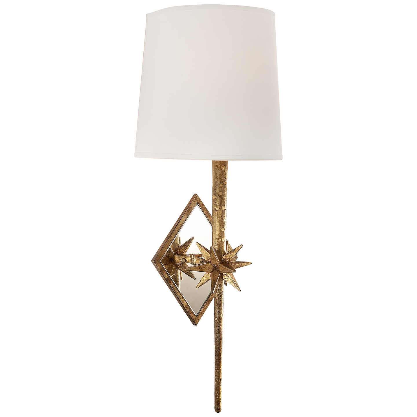 Visual Comfort Etoile Sconce in Gilded Iron with Natural Paper Shade S2320GI-NP