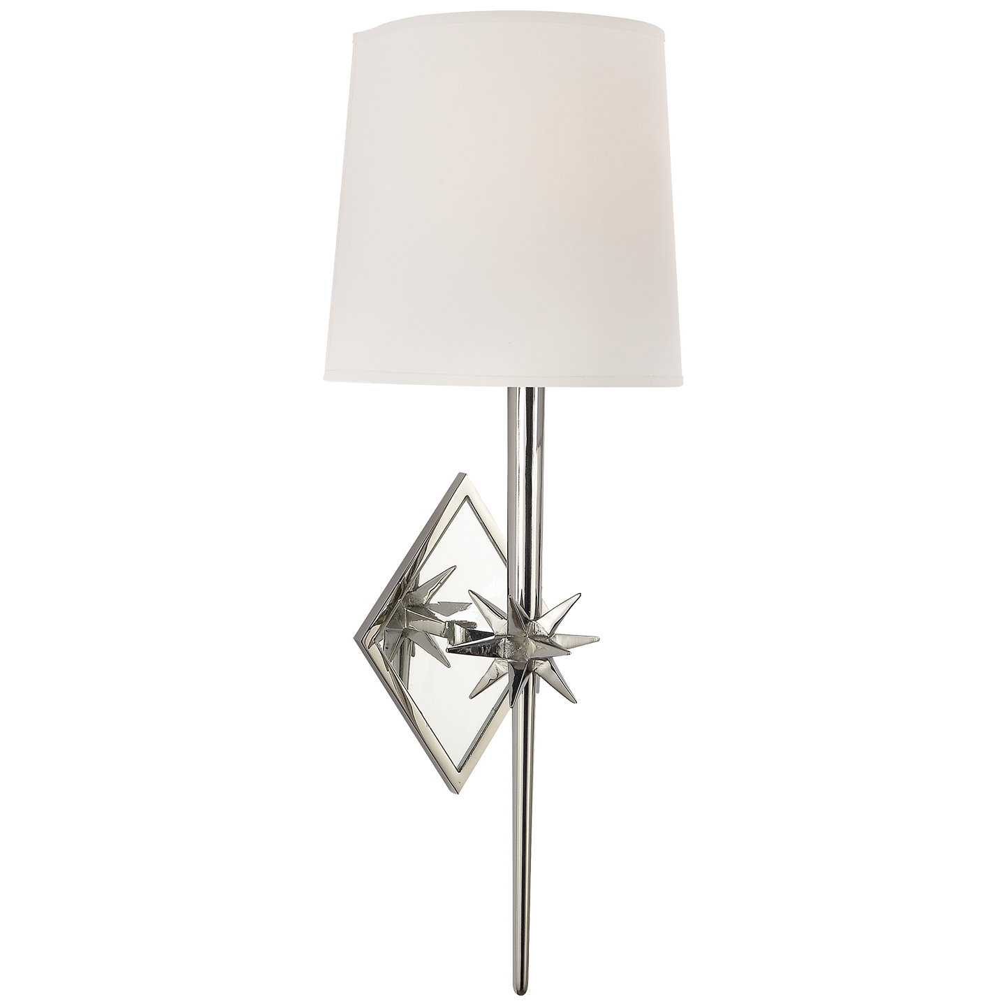 Visual Comfort Etoile Sconce in Polished Nickel with Natural Paper Shade S2320PN-NP
