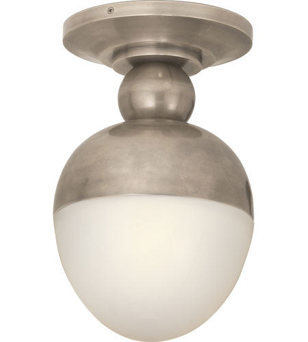 Visual Comfort Clark Flush Mount in Antique Nickel TOB4006AN-WG