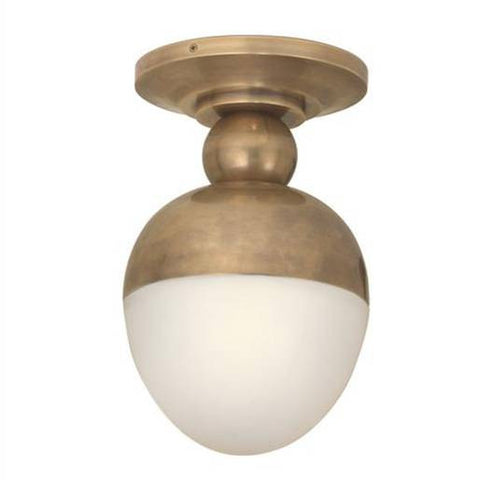 Visual Comfort Clark Flush Mount in Hand-Rubbed Brass TOB4006HAB-WG