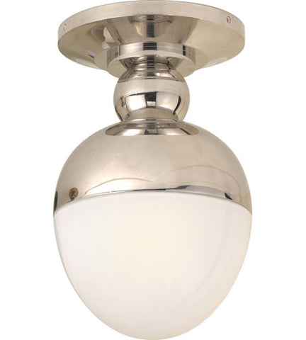 Visual Comfort Clark Flush Mount in Polished Nickel TOB4006PN-WG