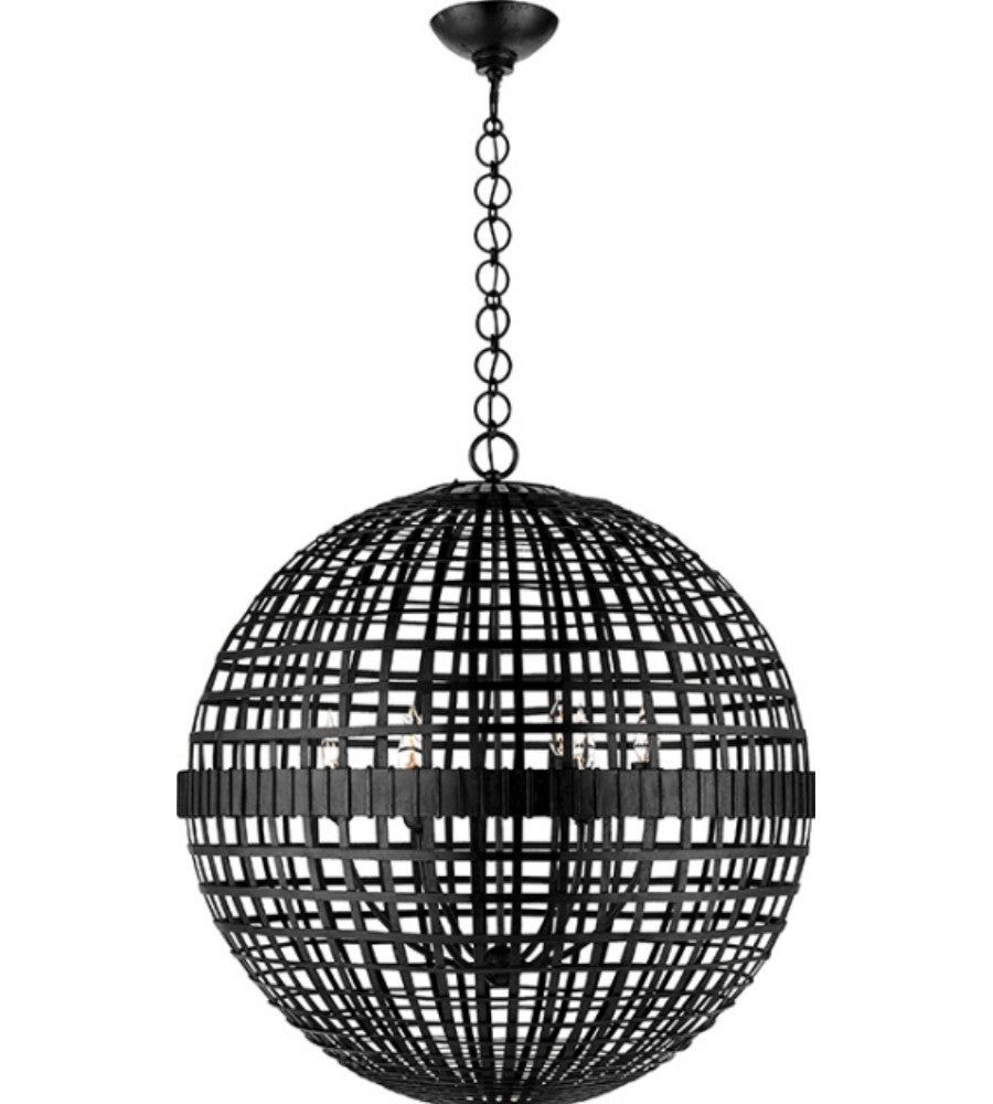 Visual Comfort Mill Ceiling Light in Aged Iron designed by Aerin ARN5002AI