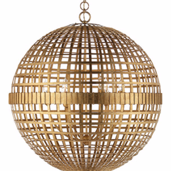Visual Comfort Mill Ceiling Light in Gild designed by Aerin ARN5002G