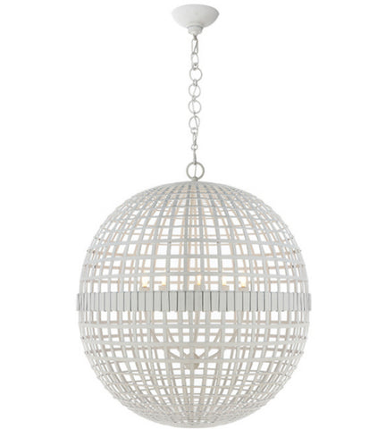 Visual Comfort Mill Ceiling Light in Plaster White designed by Aerin ARN5002PW