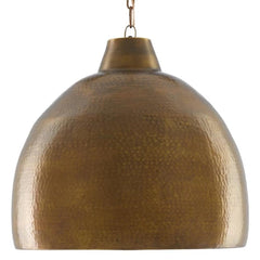 Earthshine Large Pendant, 1-Light Pendant, Vintage Brass