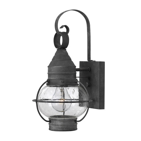 Cape Cod Outdoor Wall Lantern with LED bulb in Aged Zinc 2200DZ-LED