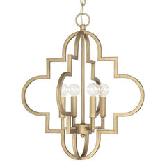 Small Ellis Pendant in Brushed Gold by Capital Lighting 4541BG