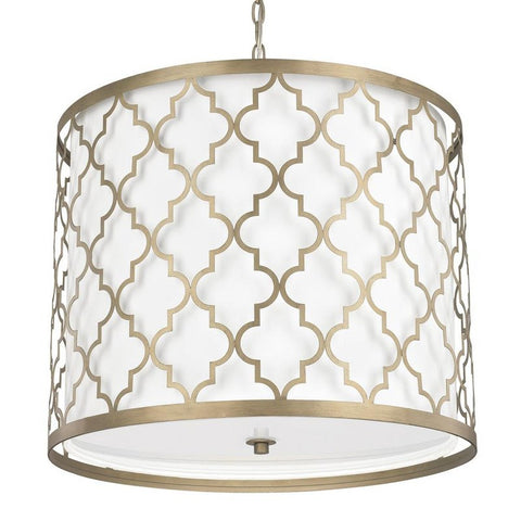 Ellis Drum 5 Light Pendant in Brushed Gold by Capital Lighting 4543BG-578