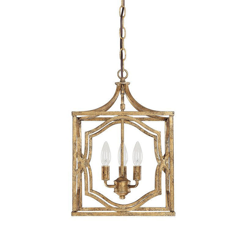 Blakely 3 Light Small Gold Open Cage Lantern by Capital Lighting 9481AG