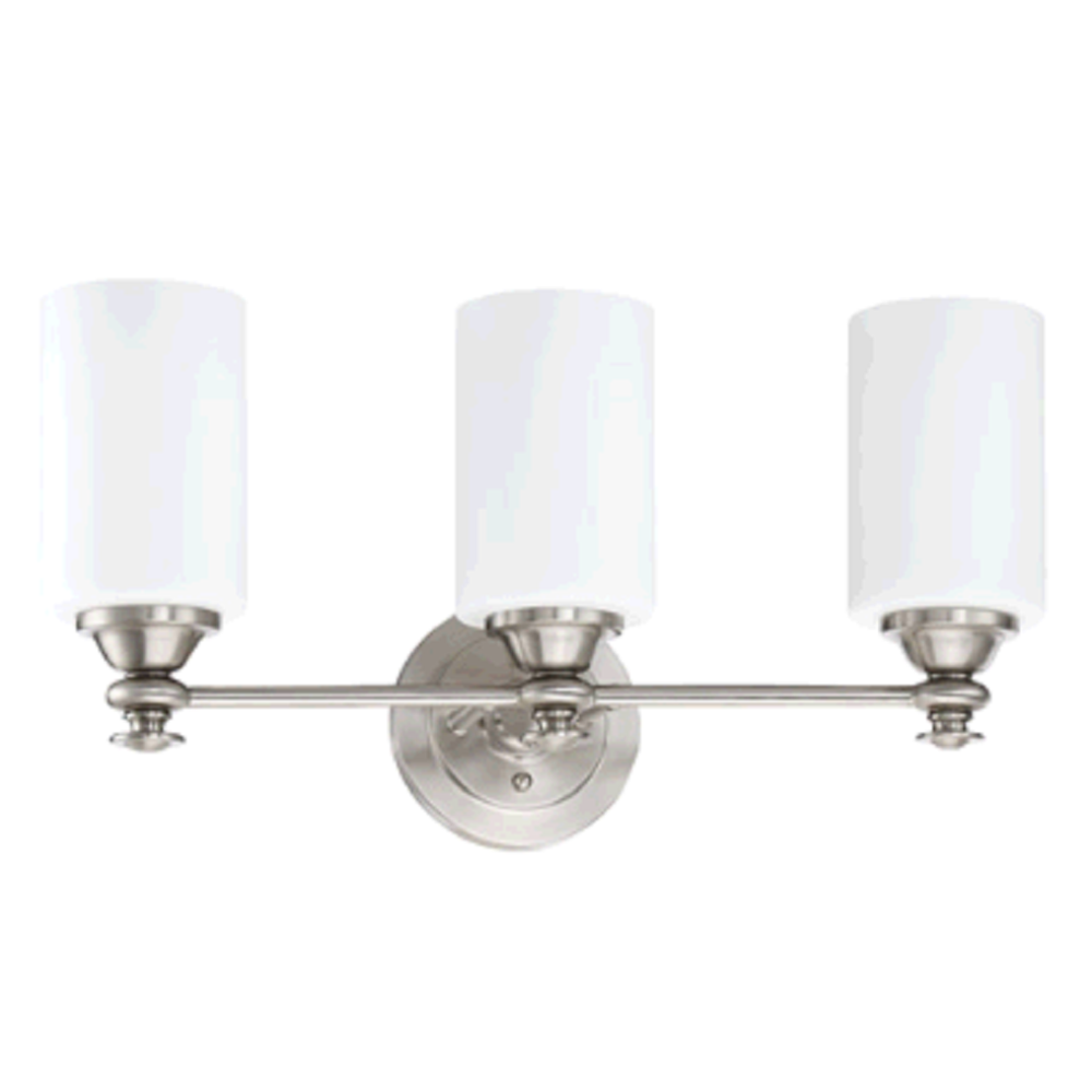 Morrison 3-Light Vanity, Vanity, Brushed Nickel