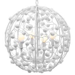 Celeste Sphere Chandelier in White, by Stray Dog Designs, 13celestesphere-Stray Dog White