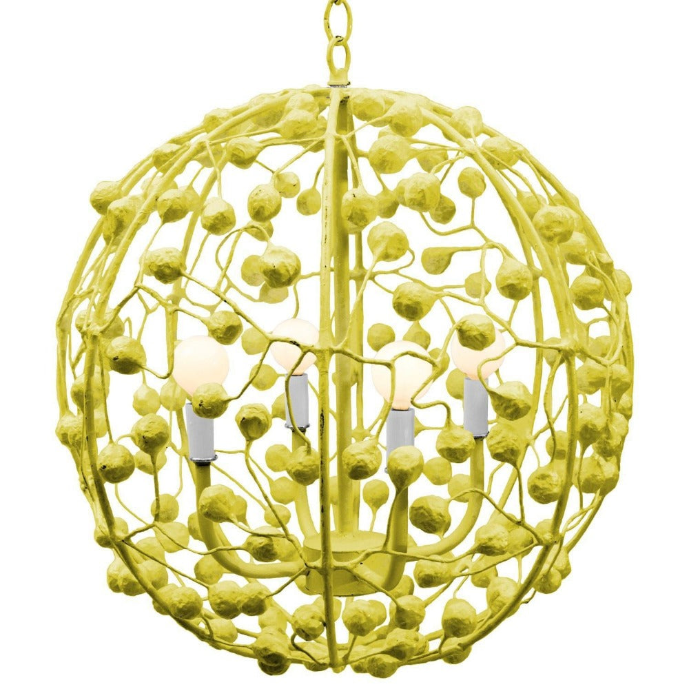 Celeste Sphere Chandelier in Chartreuse, by Stray Dog Designs, SD-13celestesphere-Stray Dog Chartreuse