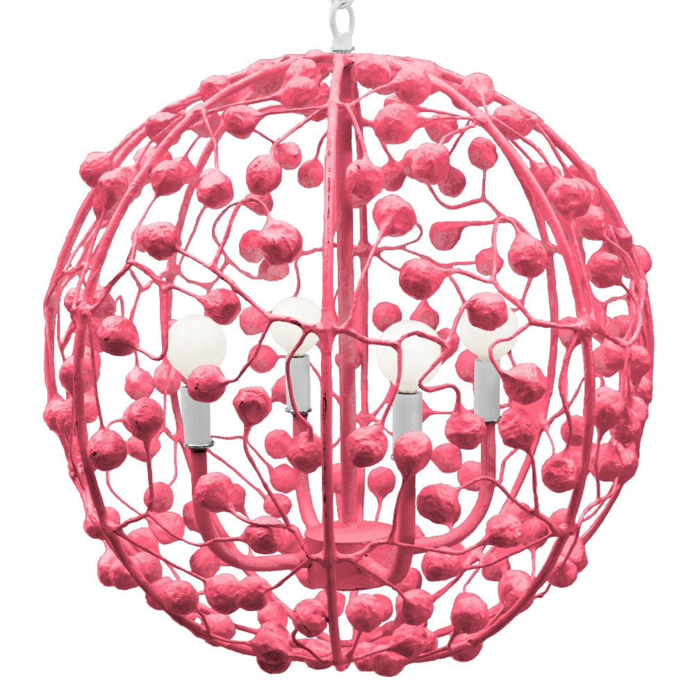 Celeste Sphere Chandelier in Stray Dog Pink, by Stray Dog Designs, 13celestesphere-Stray Dog Pink
