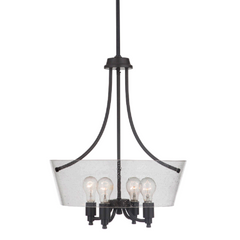Sutton 4-Light Foyer, Foyer, Matte Black