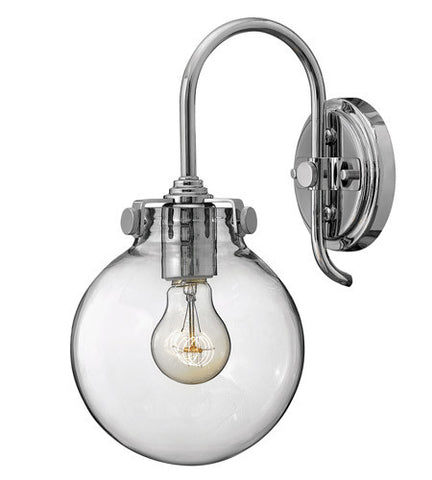 Congress 1 Light Globe Vanity in Chrome with Clear Glass Shades by Hinkley Lighting 3174CM