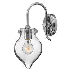 Congress 1 Light Teardrop Vanity in Chrome with Clear Glass Shade by Hinkley Lighting 3177CM