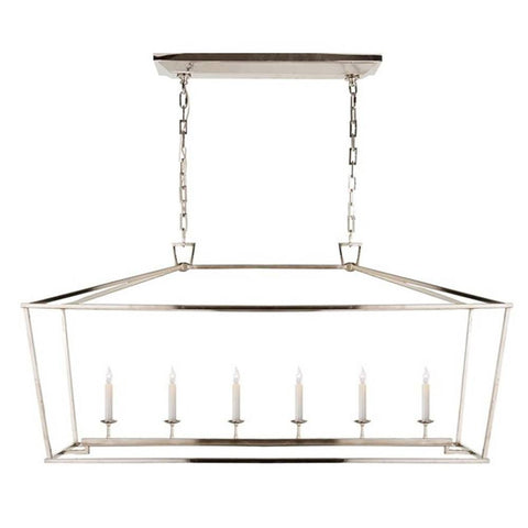 Darlana 6 Light Linear Pendant in Polished Nickel by Visual Comfort CHC2166PN