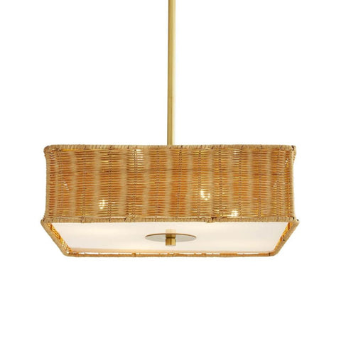 Tangier Pendant, Pendant, Antique Brass, Frosted, Natural