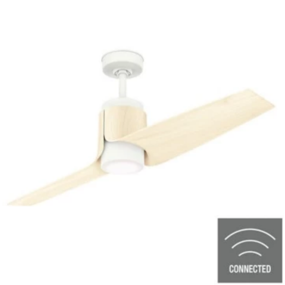 Casablanca Fan, 2 Blade Smart Ceiling Fan, Porcelain White, Ash