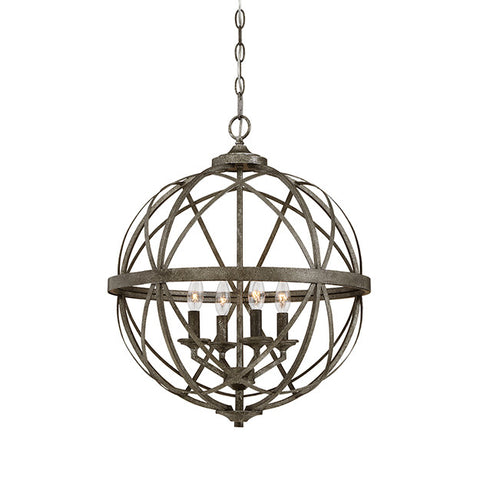 Lakewood Orb Chandelier Blackened Silver