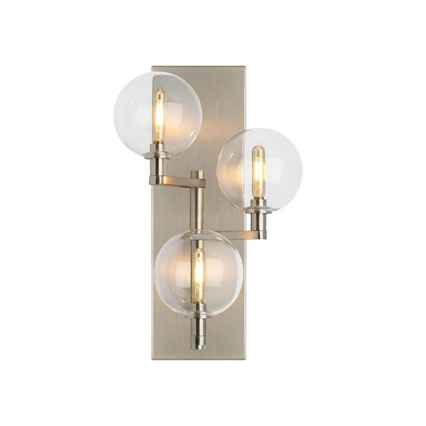 Gambit Sconce, 3-Light Wall Sconce, Satin Nickel