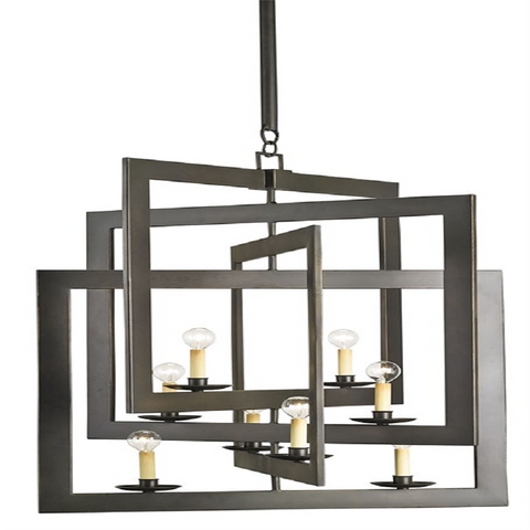 Middleton Small Chandelier, 8-Light Chandelier, Bronze Gold